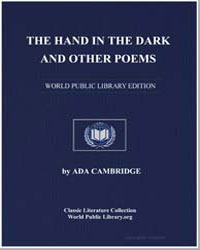 The Hand in the Dark and Other Poems by Cambridge, Ada