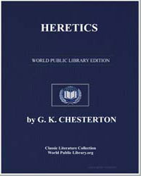 Heretics by Chesterton, Gilbert Keith