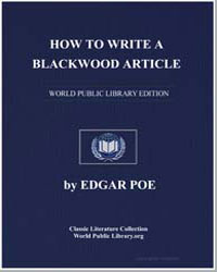 How to Write a Blackwood Article by Poe, Edgar Allen