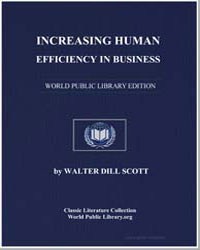 Increasing Human Efficiency in Business by Scott, Walter Dill