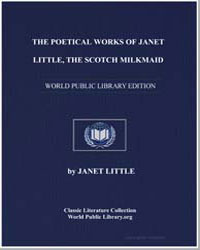 The Poetical Works of Janet Little, The ... by Little, Janet