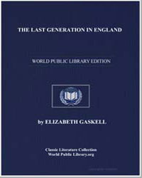The Last Generation in England by Gaskell, Elizabeth