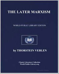 The Later Marxism by Veblen, Thorstein