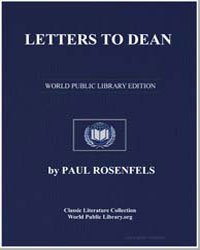 Letters to Dean by Rosenfels, Paul