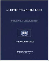 A Letter to a Noble Lord by Burke, Edmund