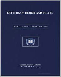 Letters of Herod and Pilate by