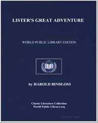Lister's Great Adventure by Bindloss, Harold
