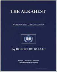 The Alkahest by De Balzac, Honore
