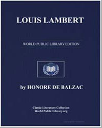 Louis Lambert by De Balzac, Honore