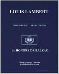Louis Lambert by De Balzac, Honore