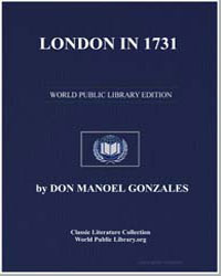 London in 1731 by Gonzales, Don Manoel