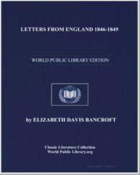 Letters from England 18461849 by Bancroft, Elizabeth Davis