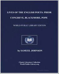 Lives of the English Poets : Prior, Cong... by Johnson, Samuel