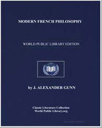 Modern French Philosophy by Gunn, J. Alexander