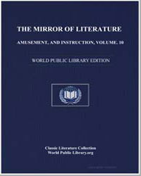 The Mirror of Literature, Amusement, And... by Ingram, Jonathan
