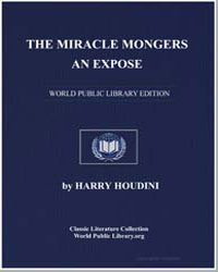 The Miracle Mongers an Expose by Houdini, Harry
