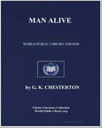 Manalive by Chesterton, Gilbert Keith