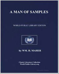 A Man of Samples by Maher, W. M. H.
