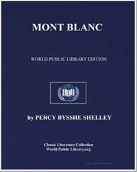 Mont Blanc by Shelley, Percy Byssche