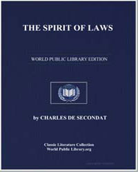 The Spirit of Laws by De Secondat, Charles