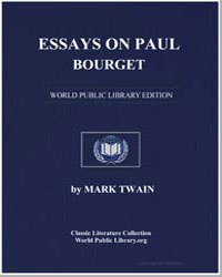 Essays on Paul Bourget by Twain, Mark