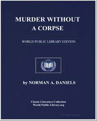Murder Without a Corpse by Daniels, Norman A.