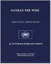 Nathan the Wise by Lessing, Gotthold Ephraim