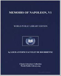 Memoirs of Napoleon, Volume 1 by De Bourrienne, Louis Antoine Fauvelet