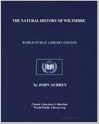 The Natural History of Wiltshire by Aubrey, John