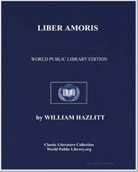 Liber Amoris; Or, The New Pygmalion by Hazlitt, William