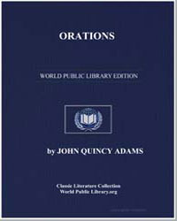 Orations by Adams, John Quincy