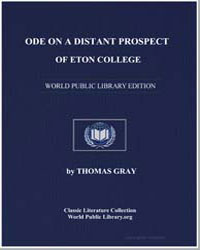 Ode on a Distant Prospect of Eton Colleg... by Gray, Thomas