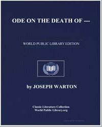 Ode on the Death by Warton, Joseph
