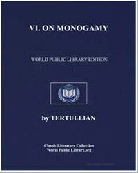 Vi. On Monogamy by Tertullian