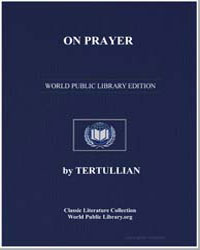 On Prayer by Tertullian