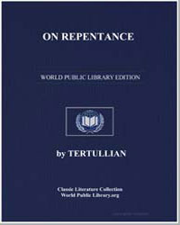 On Repentance by Tertullian