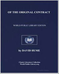 Of the Original Contract by Hume, David