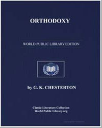 Orthodoxy by Chesterton, Gilbert Keith