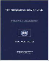 The Phenomenology of Mind by Hegel, Georg