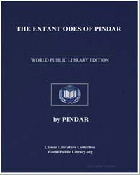 The Extant Odes of Pindar by Pindar, Ancient Greece, Poet Of.
