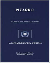 Pizarro by Sheridan, Richard Brinsley