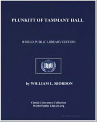 Plunkitt of Tammany Hall by Riordon, William L.