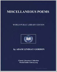 Miscellaneous Poems by Gordon, Adam Lindsay