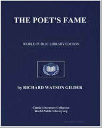 The Poet's Fame by Gilder, Richard Watson