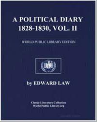A Political Diary 1828-1830, Volume Ii by Law, Edward