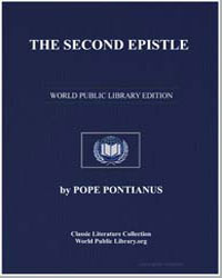 The Second Epistle. To All Bishops. On B... by Pontianus, Pope