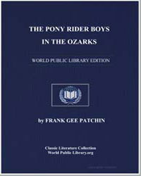 The Pony Rider Boys in the Ozarks by Patchin, Frank Gee