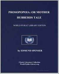 Prosopopoia : Or Mother Hubberds Tale by Spenser, Edmund