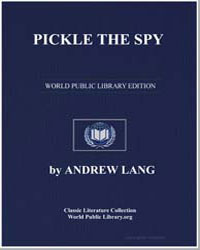 Pickle the Spy by Lang, Andrew, M. A.