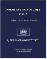 Poems in Two Volumes, Volume 2 by Wordsworth, William